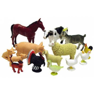 Farmi loomad, 12 tk, plast, 3+
