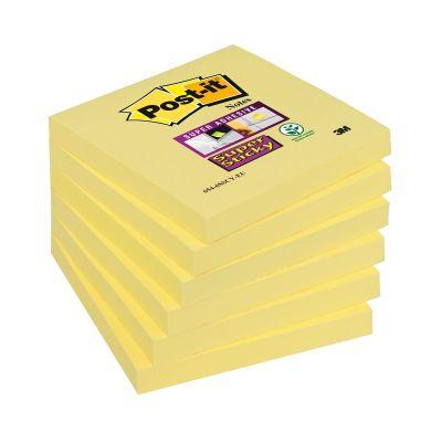 Märkmepaber iseliimuv POST-IT 654SC6 Super Sticky kollane,76x76mm (pakis 6*90l.)