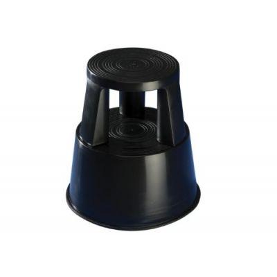 Plastist rulltaburet/turvaaste WEDO h-425mm/alus 440mm must, kuni 150kg