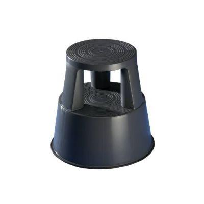 Plastist rulltaburet/turvaaste WEDO h-425mm/alus 440mm tumehall, kuni 150kg