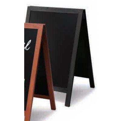 Kriiditahvel must, A-kujuline, 550x850mm/ must raam