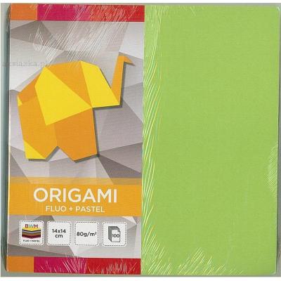 Origami paber 14x14cm mix  fluo+pastel,100 lehte Interdruk
