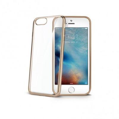 Telefoni Tagumine ümbris Celly Laser iPhone8,7,6,6S läbipaistev kuldne