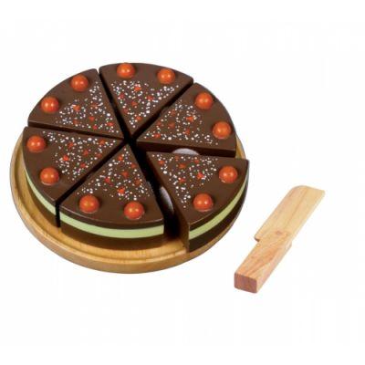 Mängu shokolaadikook, puust, D 13,5 cm, 2+