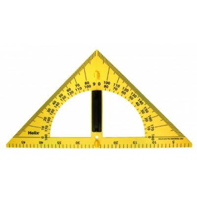 Tahvli kolmnurk-mall, magnetiline, 50 x 26 cm