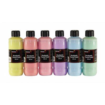 Kattevärv, pastelltoonid, 6 x 250 ml, Readymix