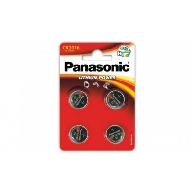 Patareid Panasonic CR2016/4B, 4 patareid, 3V Lithium 90mAh diam 20mm h 1,6mm