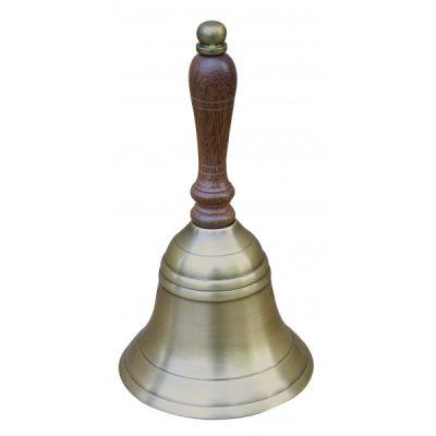 Lauakell puit/antiik messing, läbimõõt 8,5 cm, kõrgus 16 cm, Merenodi