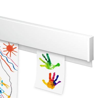InfoRail ArtiTeq, L- 200cm, liist infolehtede-jooniste seinale riputamiseks, jätkatav, kinnitustega/ valge, 1 tk