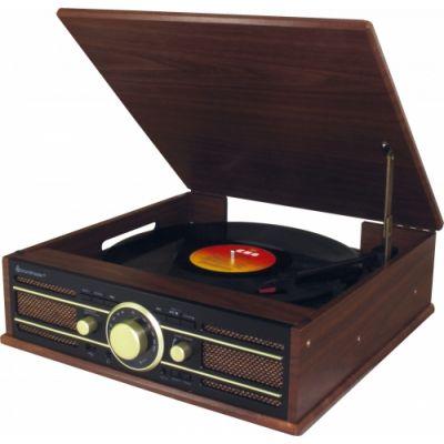 Plaadimängija Soundmaster Nostalgic PL550BR, LP plaadimängija, FM-raadio, USB