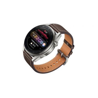 Huawei Watch 3 Pro 1.43, Smart watch, NFC, GPS (satellite), AMOLED, Touchscreen, Heart rate monitor, Activity monitoring 24/7, Waterproof, Bluetooth, Wi-Fi, Titanium Gray