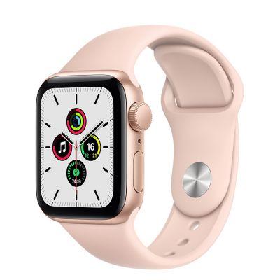 Apple Aluminium Case with Sport Band - Regular SE GPS 40mm, Smart watch, GPS (satellite), LTPO OLED Retina, Touchscreen, Heart rate monitor, Waterproof, Bluetooth, Wi-Fi, Gold/Pink Sand