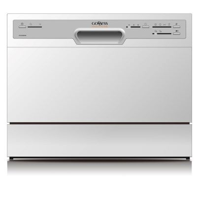 Goddess Dishwasher DTC656MW8F Free standing, Width 55 cm, Number of place settings 6, Number of programs 6, Energy efficiency class F, White