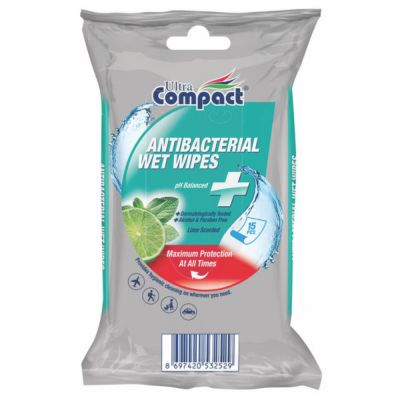 Salvrätikud Ultra Compact niisked, antibakteriaalsed (ei sisalda alkoholi) 15tk/pk