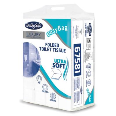 Tualettpaber lehtedes BulkySoft Excellence  2-kihiline 224  lehte/pakis (lehe mõõt 19x11cm)