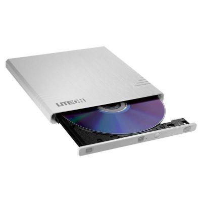 DVD-kirjutaja väline DRW LiteOn eBAU108, USB, Super-Slim, ultra-light, Valge