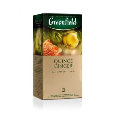 Roheline tee Greenfield Quince Ginger 2gx25 tk/pk