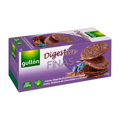 Küpsised GULLON Digestive shokolaaditükikeste ja mustikatega 270g