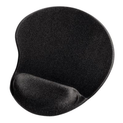 Hiirepadi randmetoega Hama Ergonomic Mouse Pad Black, must, geeliga