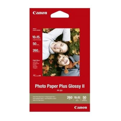Paber Canon PP-201 10x15cm 50l 265gr/m2 high gloss (kõrgläikiv fotopaber), Photo Paper Plus II Glossy