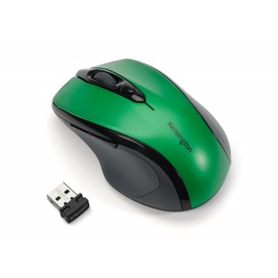 Hiir Kensington Pro Fit Mid-Size Wireless Mouse, Green/roheline, 2xAAA