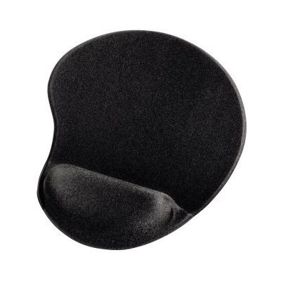 Hiirepadi randmetoega Hama Ergonomic Mouse Pad Mini Black, must, väike geeliga randmetugi