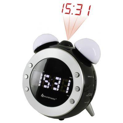 Kellraadio Soundmaster UR140, must, LCD-ekraan, LED-valgustus, projitsioon, termomeeter, must/valge