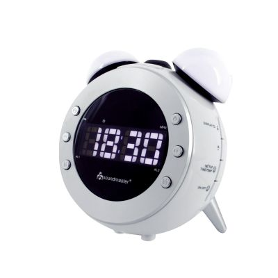 Kellraadio Soundmaster UR140, raadio, LCD-ekraan, LED-valgustus, projitsioon, termomeeter, valge/must