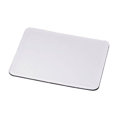 Hiirepadi Hama Mouse Pad with Leather Look, valge (white); Laser/optical 22x18x0.3cm