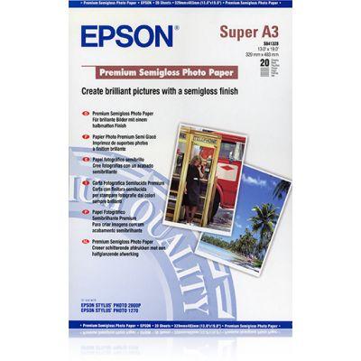 Paber Epson Premium Semigloss Photo Paper A3+plus (329x423mm) 20sheets
