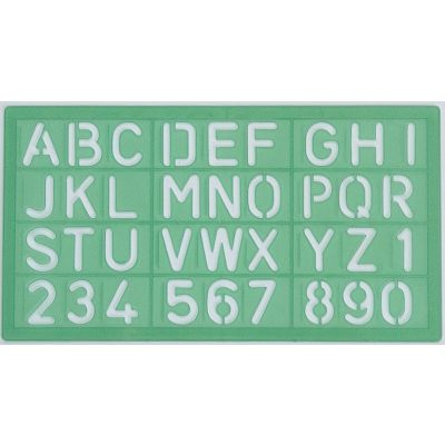 LINEX 8530 LETTERING TEMPLATE 30 MM