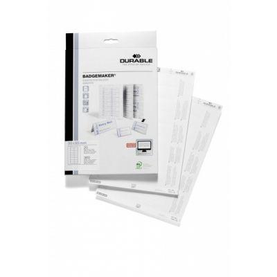 Nimesildietikett 30x65mm Durable Badgemaker, mikroperforeeritud, 360 etiketti