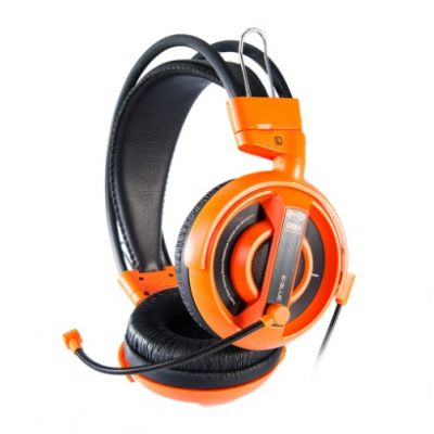 Kõrvaklapid mikrofoniga e-blue Cobra I, must/oranž