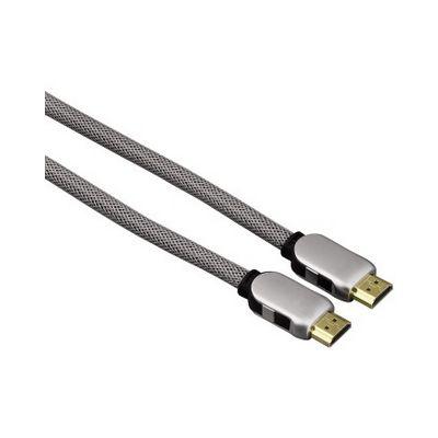 Kaabel HDMI-HDMI Hama High Speed Cable 5m, UHD 4K 4096x2160, kullatud, topeltvarjestus, hõbedane
