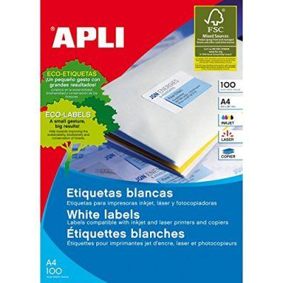 Etikett APLI ümar 60mm Ref.1244, 100lehte/pk