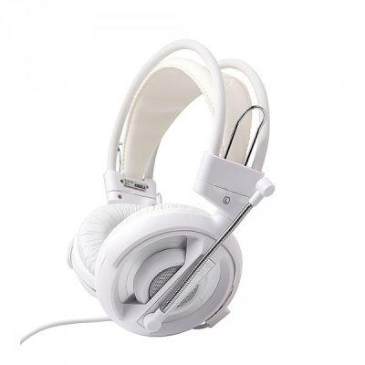 Kõrvaklapid mikrofoniga e-blue Cobra I, valge