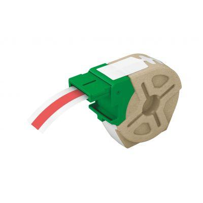 Kleebiste kassett Leitz Icon jooksev lint 12mm x 10m punane plastikteip - iseliimuv värviline plastiketikett