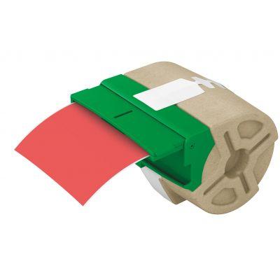 Kleebiste kassett Leitz Icon jooksev lint 88mm x 10m punane plastikteip - iseliimuv värviline plastiketikett