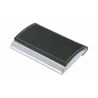 Visiitkaardikarp Wedo Practise, 98 x 63 x 14 mm kunstnahk, must/ teras, läikega.