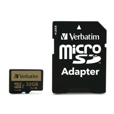 Mälukaart Secure Digital Verbatim MicroSDHC 32GB PRO+ Class 10 UHS-I U3 with adaptor (R 90MB/s, W 80MB/s)