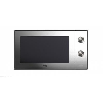 Mikrolaineahi Beko MGC20100Silver 700W/900W grilliga 20L hõbedane , meh.juhtimine, 26.2 x 45.2 x 32.5 cm