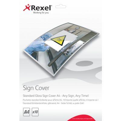 Sildiümbris Rexel A4 läikiv, 10 kuumlaminaatkile - Standard Gloss Sign Cover A4 for SignMaker