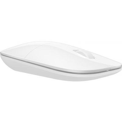 Hiir HP Z3700 White Wireless Mouse valge madal disain juhtmevaba 101x60x26mm AA-patarei USB-Nano-reciever 3-button 1200dpi