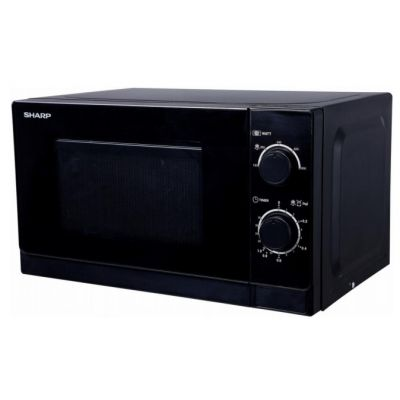 Mikrolaineahi Sharp R200 must , mehhaaniline juhtimine, 20L 800W 25,6x44x34cm