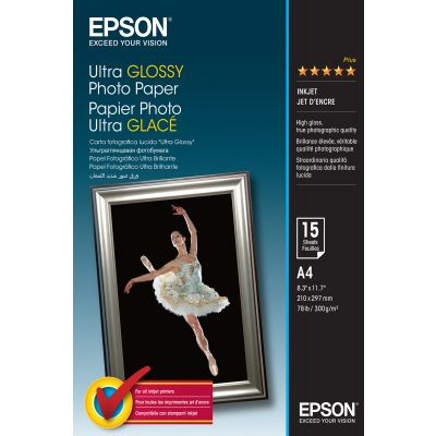 Paber Epson Ultra Glossy Photo Paper A4/15l 300gr