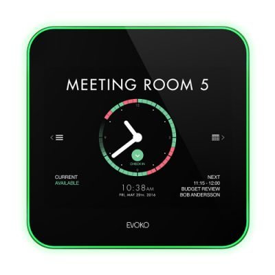 Ruumiplaneerija Evoko Liso Room Manager - 8'' Roombooking display. PoE+, Wi-Fi, Wallmount (w/o power adapter)