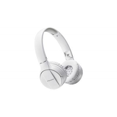 Kõrvaklapid+mikrofon Pioneer SE-MJ553BT-W valge juhtmevabad Bluetooth3.0, 40mm kõrva pealsed, 10-22000Hz
