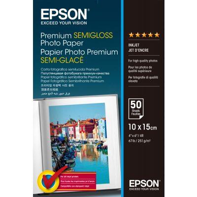 Paber Epson Premium Semigloss 10x15cm, 50l, 251g S041765