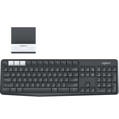 Klaviatuur Logitech K375s Wireless keyboard & Smartphone Stand Combo kit,Pan-Nordic, 2YW