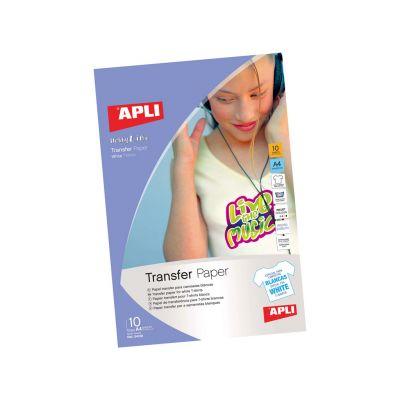 Etikett APLI 210x297 valgele T-särgile/white T-Shirt 10lehte pakis, tindiprinterile,  Ref. 4128